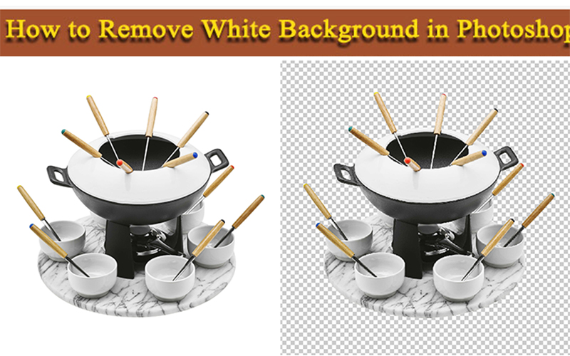 remove white background in photoshop